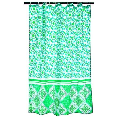 Штора для ванной Vetta 461-435 180х180 зеленая ажурная