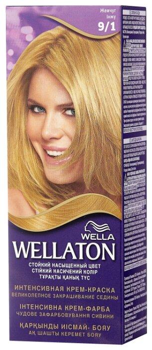 Купить Wellaton стойкая крем-краска для волос, 9/1 жемчуг по низкой цене с доставкой из Яндекс.Маркета