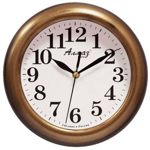 Часы настенные кварцевые Алмаз P04-P10 бронзовый/белый часы настенные кварцевые алмаз p04 p10 бежевый белый