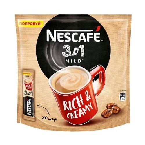 Растворимый кофе Nescafe 3 в 1 мягкий, в стиках (20 шт.)