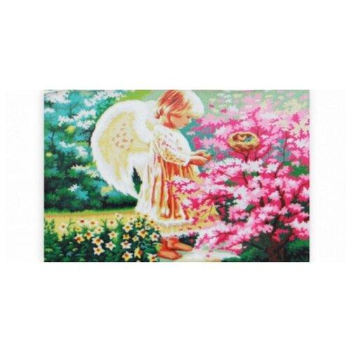 Купить Рыжий кот Набор алмазной вышивки Ангел в саду (AC22005) 22х32 см, Алмазная вышивка