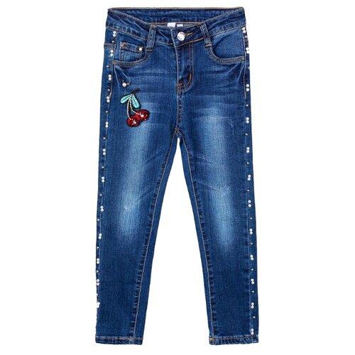 Фото - Джинсы playToday размер 98, синий/красный/белый/зеленый джинсы playtoday размер 104 белый синий красный зеленый