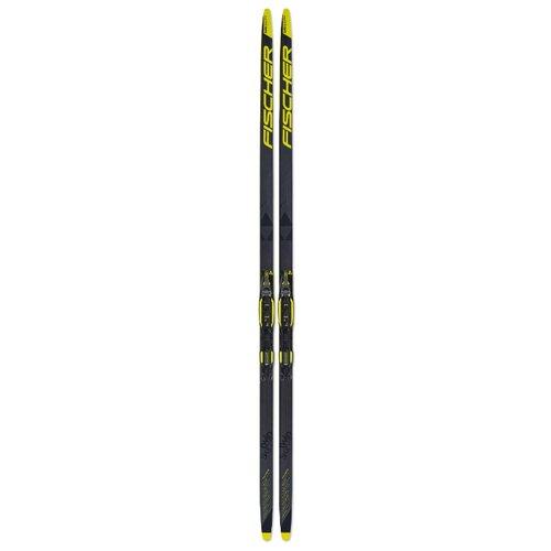 цена на Беговые лыжи Fischer Twin Skin Carbon Jr IFP серый/черный/желтый 187 см