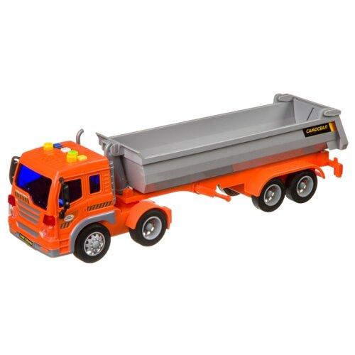 Купить Грузовик BONDIBON Парк техники Мега-самосвал (ВВ4056) 1:40 27.5 см оранжевый/серый, Машинки и техника