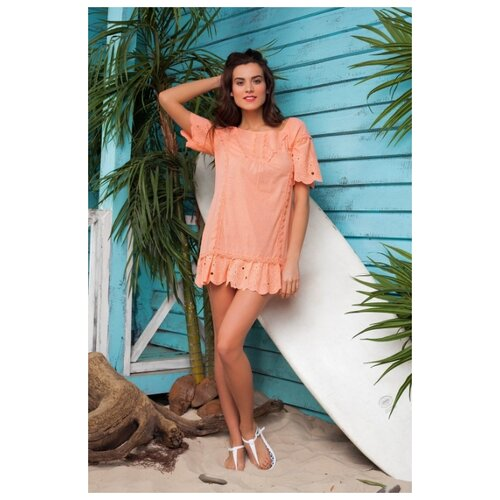 Туника Laete 61030 размер L(48), персиковый платье oodji цвет персиковый 14001182b 47420 5400n размер l 48