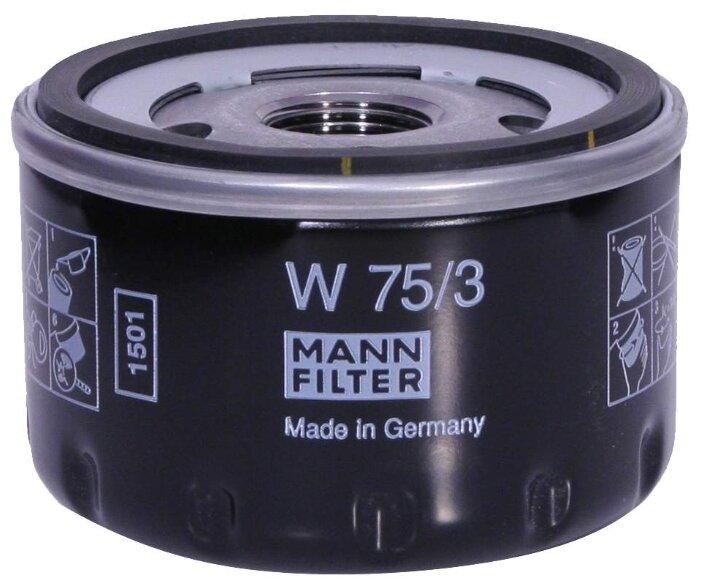 Масляный фильтр MANNFILTER W75/3