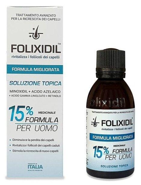 Folixidil Лосьон 15% для мужчин против выпадения волос