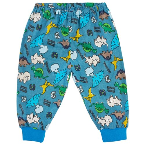 Брюки Веселый Малыш Дино лэнд 33170/one размер 74, темно-зеленый пижама веселый малыш размер 74 зеленый
