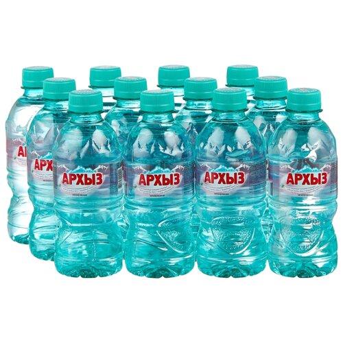 Природная ледниковая вода Архыз негазированная, ПЭТ, 12 шт. по 0.33 л минеральная питьевая столовая вода легенда гор архыз негазированная пэт 1 5 л