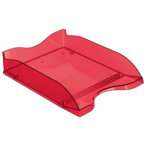 Купить Лоток горизонтальный для бумаги СТАММ Люкс темно-красный вишня, Лотки для бумаги