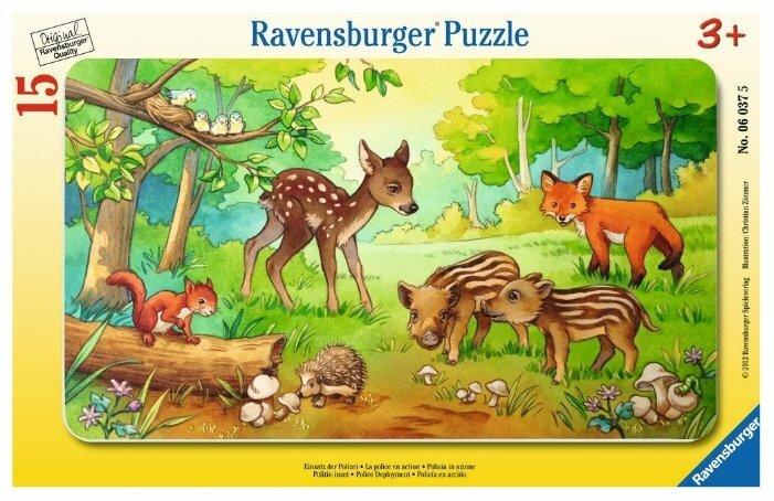 Пазл Ravensburger Детеныши животных в лесу (06376), 15 дет.
