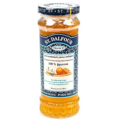 Джем St. Dalfour апельсиновый с имбирём без сахара, банка 284 г апельсиновый мармелад шикарный апельсиновый мармеладный джем 10 унций 284 г