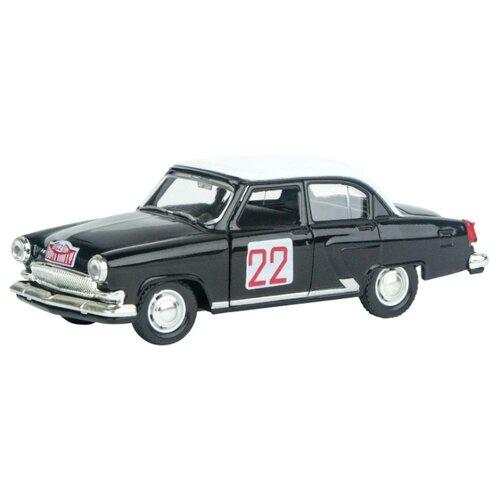 Купить Легковой автомобиль Autogrand ГАЗ-21 Волга ралли 1964 (34109) 1:43 черный/белый, Машинки и техника
