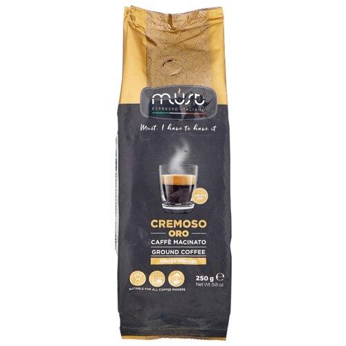Кофе молотый Must Cremoso Oro, 250 г ciao caffe oro premium кофе молотый 250 г