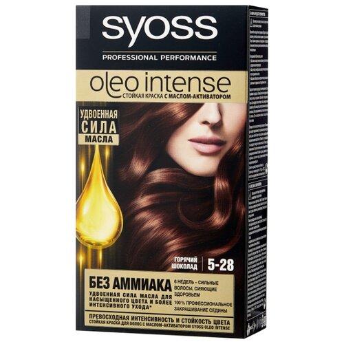 Syoss Oleo Intense Стойкая краска для волос, 5-28 Горячий Шоколад syoss oleo intense краска для волос тон 7 10 натуральный светло русый 115 мл