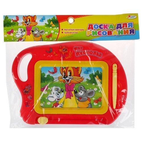 Купить Доска для рисования детская Играем вместе кот Леопольд (B1727540-R4) красный/желтый, Доски и мольберты