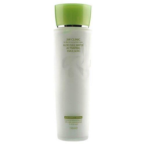 3W Clinic Aloe Full Water Activating Emulsion Активирующая эмульсия для лица, 150 мл