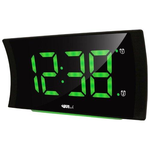 Часы настольные BVItech BV-432 черный/зеленый настольные часы bvitech bv 412g
