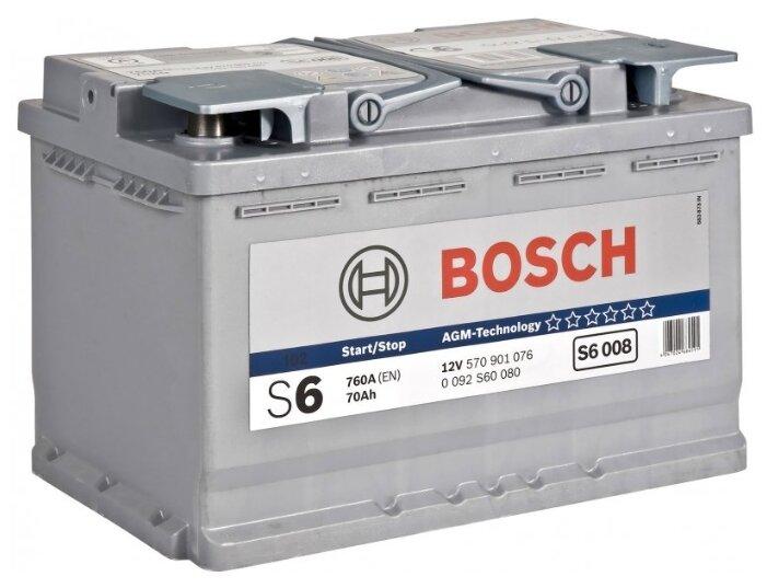 Автомобильный аккумулятор Bosch S6 008 AGM (0 092 S60 080)