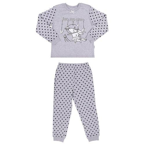 Купить Пижама RuZ Kids размер 122-128, серый меланж, Домашняя одежда
