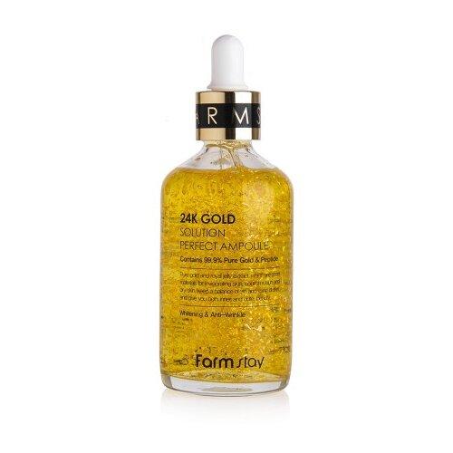 Купить Farmstay 24K Gold Solution Perfect Ampoule Сыворотка для лица, 100 мл