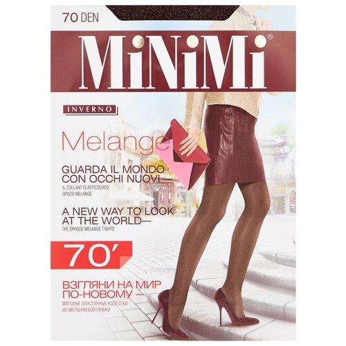Колготки MiNiMi Melange 70 den, размер 3-M, moka melange (коричневый) фото