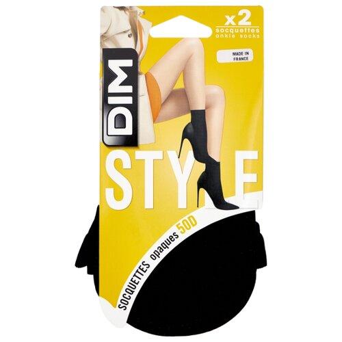 Капроновые носки DIM 05ZO, 2 пары, размер 35-41, черный носки dim 06kl 3 пары размер 43 46 черный
