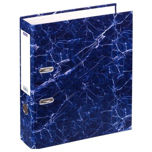 Купить OfficeSpace Папка-регистратор A4, мрамор, 70 мм синий, Файлы и папки