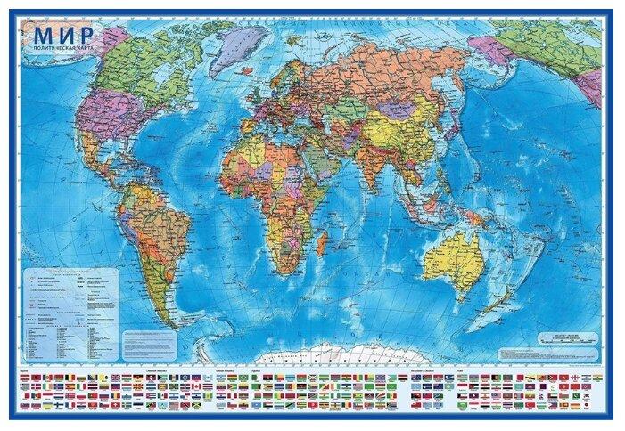 Globen Интерактивная карта Мир Политический 1:28 (КН045)