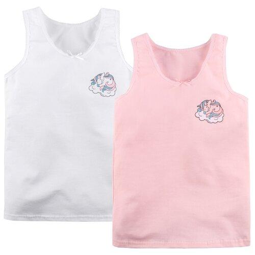 Купить Майка Bossa Nova 2 шт., размер 32, белый/розовый, Белье и купальники