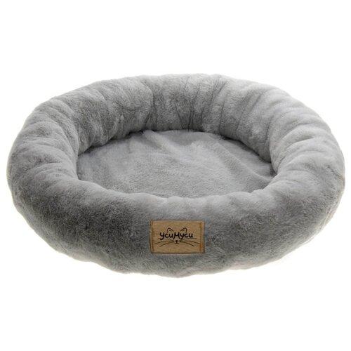 Лежак для собак и кошек УсиМуси 7PET00124 55х55х10 см серый