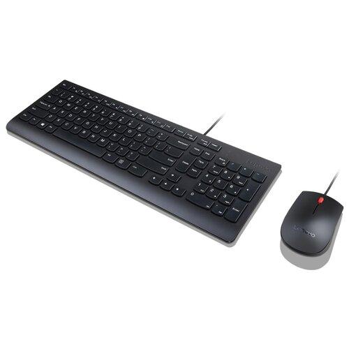 комплект клавиатура мышь lenovo wired combo essential usb проводной черный [4x30l79912] Клавиатура+мышь Lenovo Essential Wired Combo (4X30L79912)
