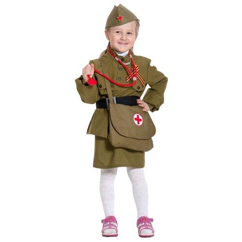 Купить Костюм КарнавалOFF Воины победы Медсестра военная (5103), хаки, размер 92-110, Карнавальные костюмы
