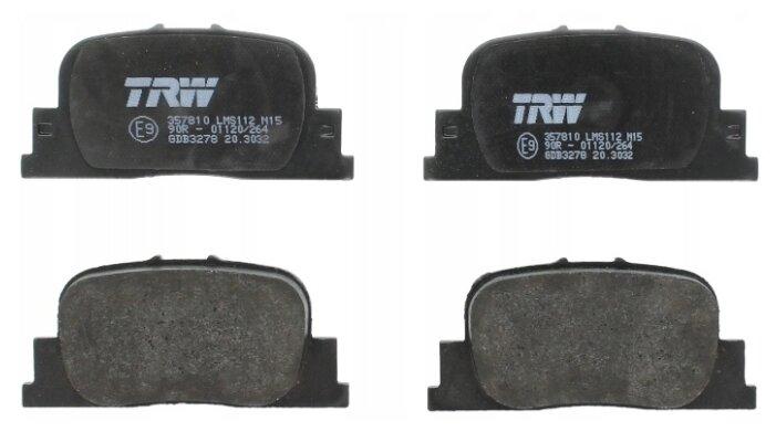 Дисковые тормозные колодки задние TRW GDB3278 для BYD, Geely, Lifan, Toyota (4 шт.)