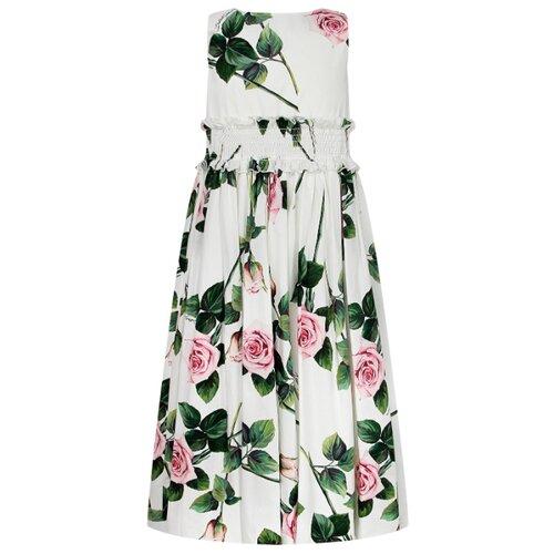 Платье DOLCE & GABBANA размер 98, белый/цветочный принт