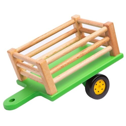 Купить Прицеп Bochart для синего трактора (BT1012) зеленый/бежевый, Машинки и техника