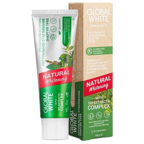 Купить Зубная паста Global White Натуральное отбеливание энергия трав, wild mint, 100 г