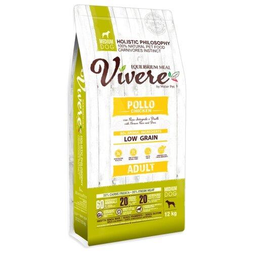 Сухой корм для собак Vivere курица 12 кг (для средних пород)