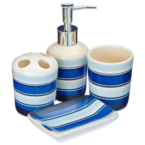 Набор для ванной Yiwu Ruisheng Daily Necessities 463-771 синий/белый