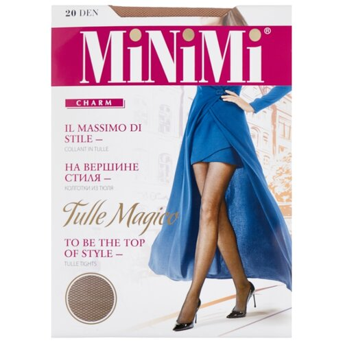 Колготки MiNiMi Tulle Magico 20 den, размер 5-XL, caramello (бежевый) колготки minimi avanti 40 den размер 5 xl caramello бежевый