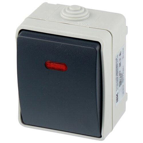 Выключатель 1-полюсный IEK ФОРС EVS11-K03-10-54-DC,10А, серый iek mva20 1 010 b авт выкл ва47 29 1р 10а 4 5ка х ка в иэк