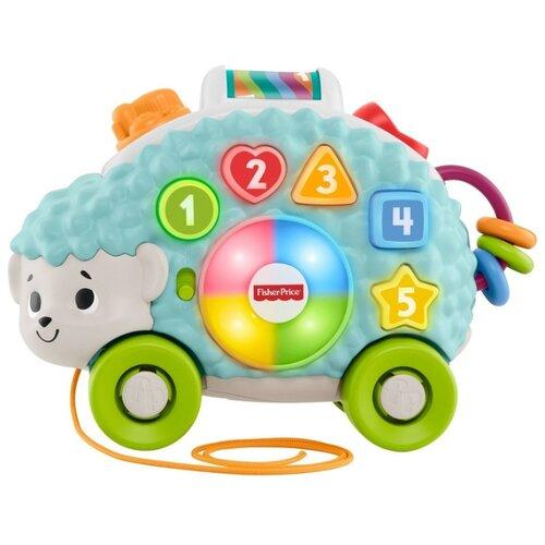 Купить Интерактивная развивающая игрушка Fisher-Price Ежик (GJB14) голубой, Развивающие игрушки