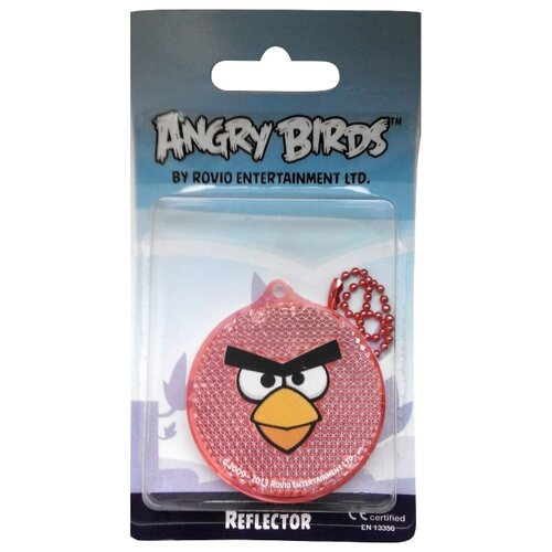 Светоотражатель COREFLECT Angry Birds Круг, красный