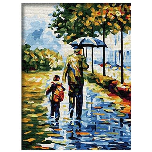 """Paintboy Картина по номерам """"Прогулка под зонтом"""" 30х40 см (E045)"""
