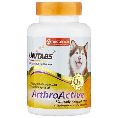 Добавка в корм Unitabs Arthroаctive с глюкозамином и МСM 100 шт. добавка в корм unitabs prebiotic для кошек и собак 100 шт