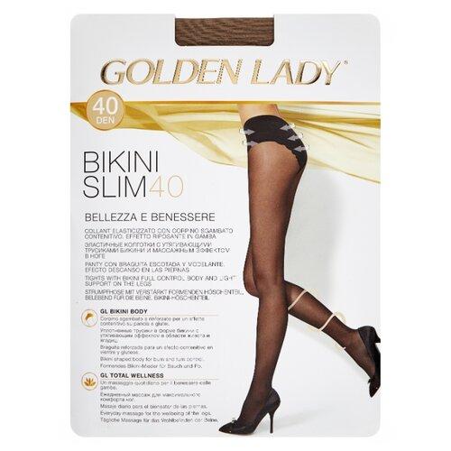 Колготки Golden Lady Bikini Slim 40 den, размер 4-L, daino (бежевый) колготки golden lady bodyform 20 den размер 4 l daino бежевый