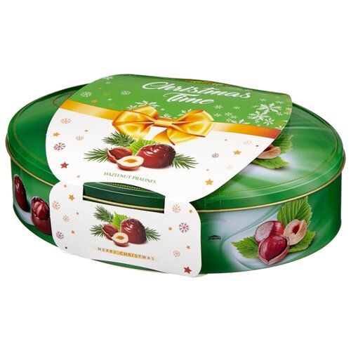 Набор конфет Magnat Christmas Nuts Gold c орехом и ореховым кремом 245 г фото