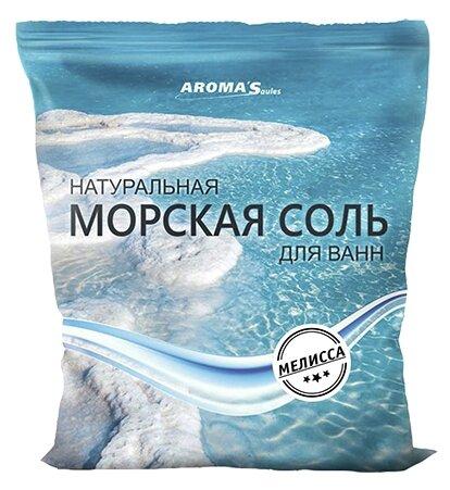 AROMA'Saules Натуральная морская соль для ванн Мелисса,