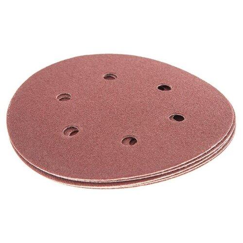 Шлифовальный круг на липучке Hammer 214-015 150 мм 5 шт шлифовальный круг на липучке hammer 214 011 125 мм 5 шт