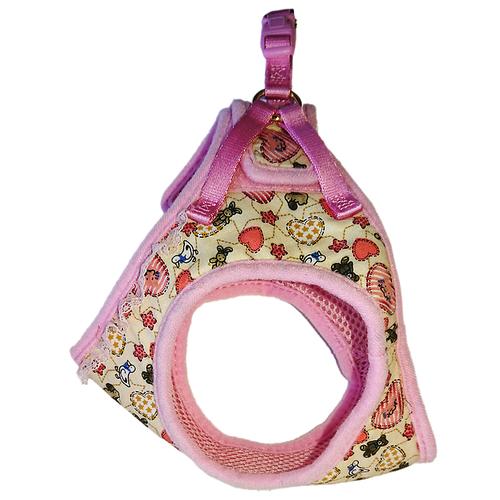 Шлейка Japan Premium Pet жилетка Буржуа SМ розовый/бежевый